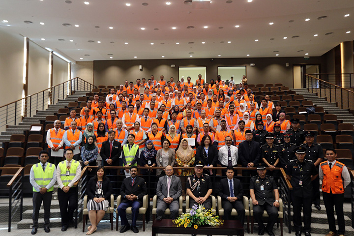 Jerudong Park Medical Centre (JPMC) Fire Evacuation Marshal Certification Ceremony with Brunei Fire & Rescue Department
